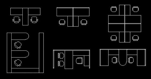 Office table and chair CAD block dwg AutoCAD